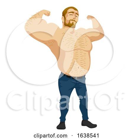 Man Sub Culture Bear Man Illustration by BNP Design Studio
