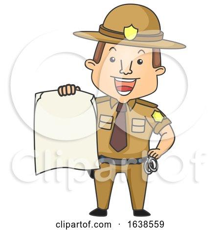 Man Sheriff Board Illustration by BNP Design Studio