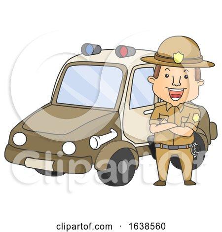 Man Sheriff Mobile Illustration by BNP Design Studio