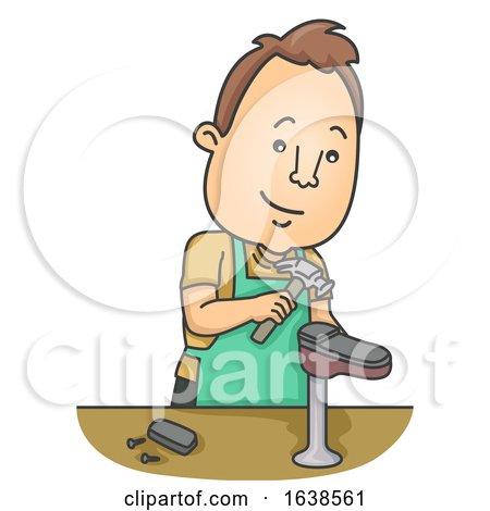 Man Shoe Repair Illustration by BNP Design Studio