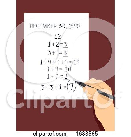 Hand Write Birthday Numerology Illustration by BNP Design Studio