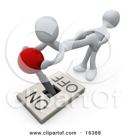 White Person Pulling The Legs Of Another While Assisting THem With Turning A Lever Off Clipart Illustration Graphic by 3poD