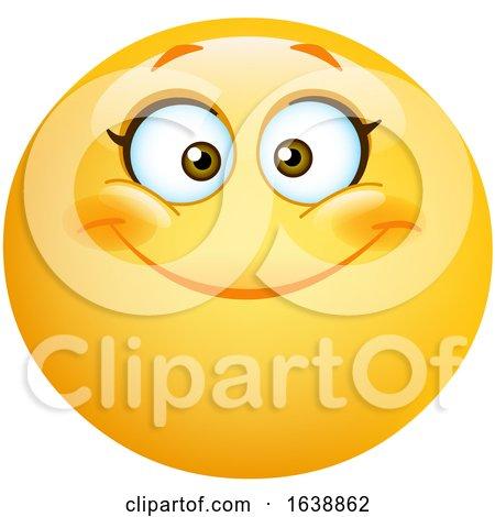 Happy Female Yellow Emoji Smiley Face by yayayoyo