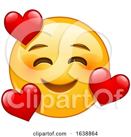 Yellow Emoji Smiley Face in Love by yayayoyo