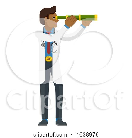 Telescope Spyglass Doctor Concept by AtStockIllustration