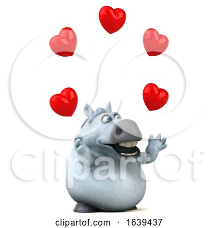 3d Chubby White Horse, on a White Background Posters, Art Prints