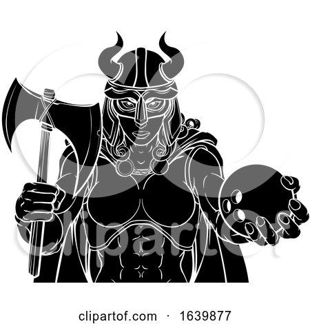 Viking Female Gladiator Bowling Warrior Woman by AtStockIllustration