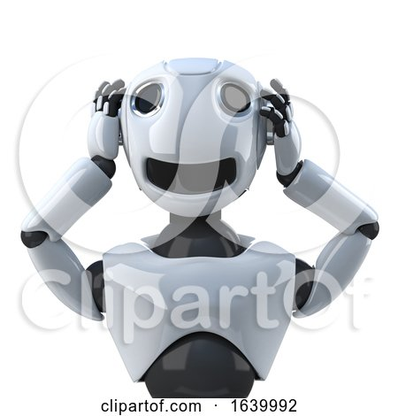 3d Robot Hears No Evil by Steve Young
