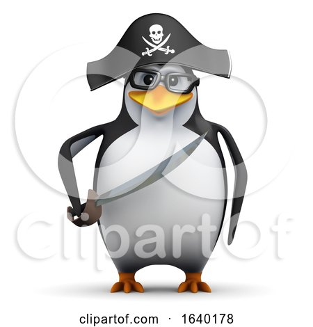 3d Penguin Student Pirate by Steve Young