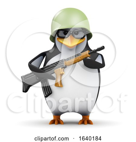 3d Penguin Student Soldier by Steve Young