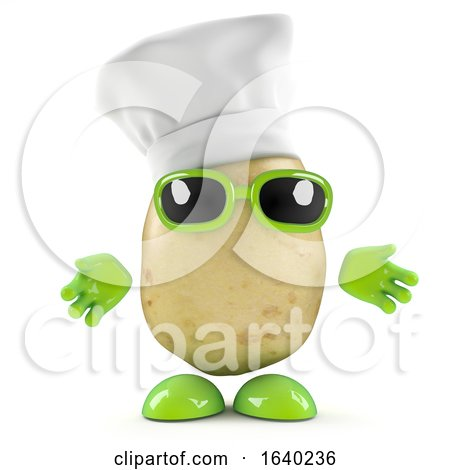 3d Potato Chef by Steve Young