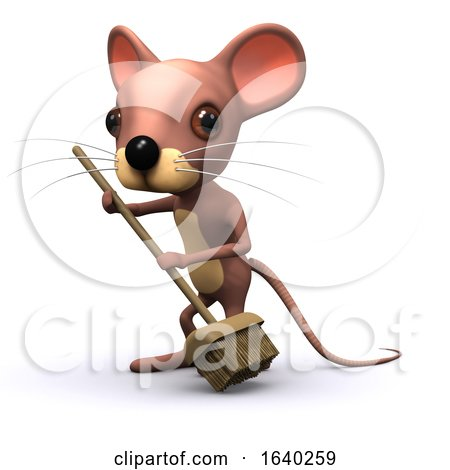 3d Mouse Sweeps with a Broom by Steve Young