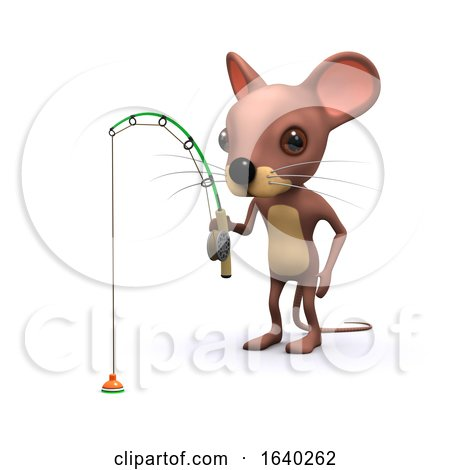 3d Mouse Gone Fishing by Steve Young