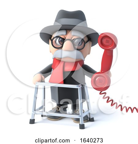 3d Grandpa Makes a Phone Call by Steve Young