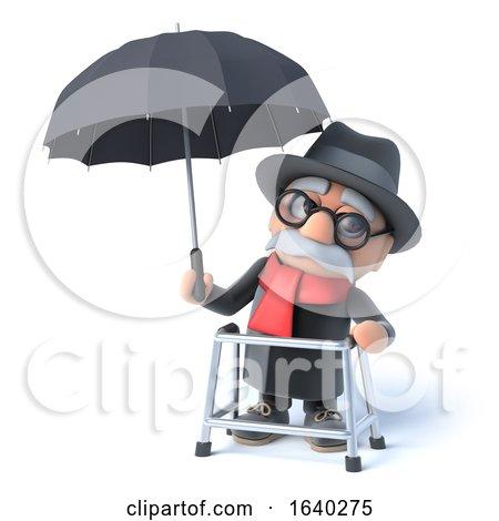 3d Grandpa Has an Umbrella by Steve Young