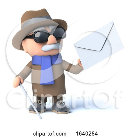 3d Blind Man Has Mail by Steve Young