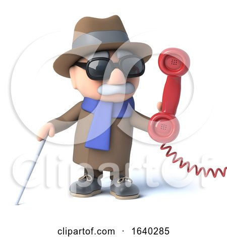 3d Blind Man Answers the Phone by Steve Young