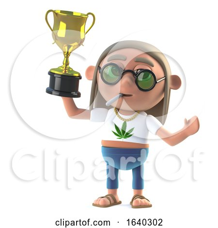 3d Hippie Stoner Wins the Gold Cup Trophy by Steve Young