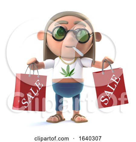 3d Stoner Hippie Has Been to the Sales by Steve Young