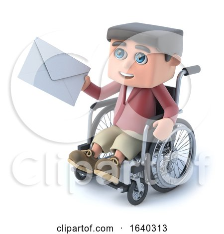 3d Boy in Wheelchair Gets Mail by Steve Young