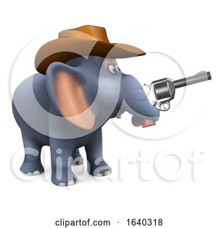3d Cowboy Elephant by Steve Young