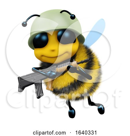 3d Soldier Bee by Steve Young
