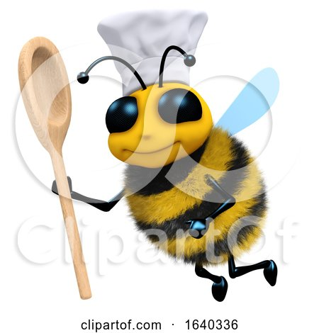 3d Bee Chef with Spoon by Steve Young