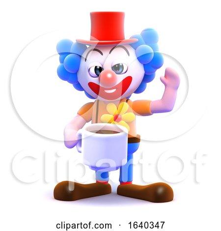 3d Clown Tea Break by Steve Young