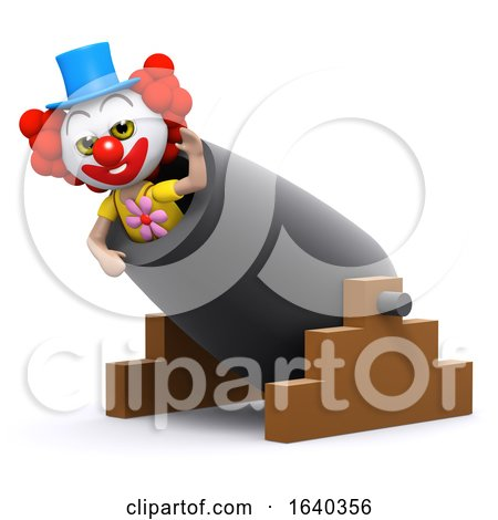 3d Clown Cannon by Steve Young