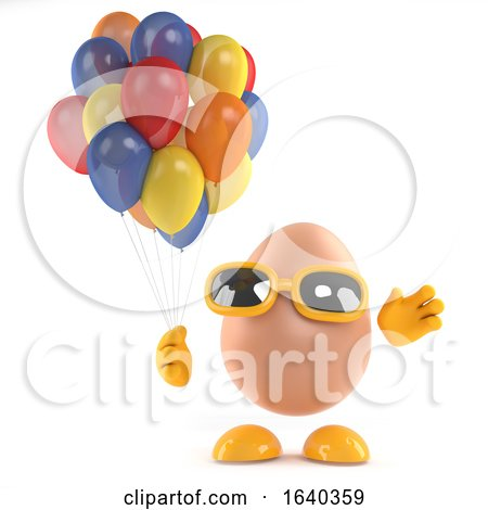 3d Egg Has Some Beatiful Colored Balloons by Steve Young