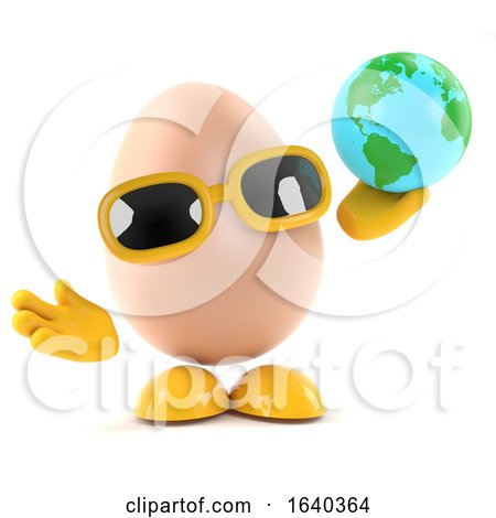 3d Egg with a Globe of the Earth by Steve Young