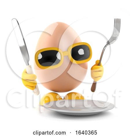 3d Egg Dinner Time by Steve Young