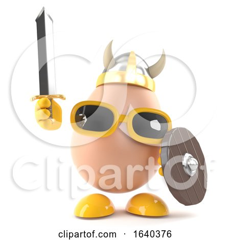 3d Viking Egg by Steve Young