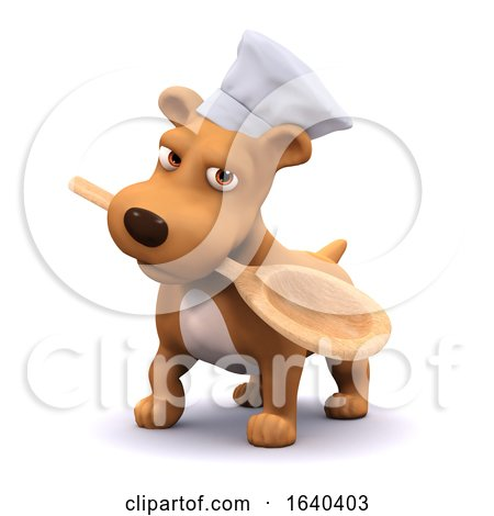 3d Chef Dog with Spoon by Steve Young