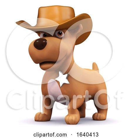 3d Sheriff Puppy by Steve Young