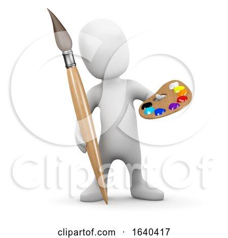3d Little Man Is an Artist by Steve Young