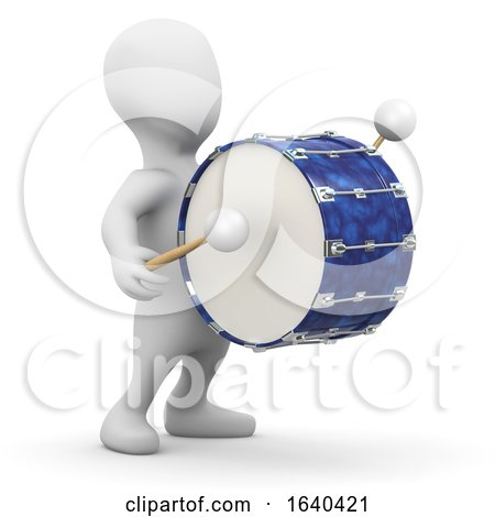 3d Little Marching Drummer by Steve Young