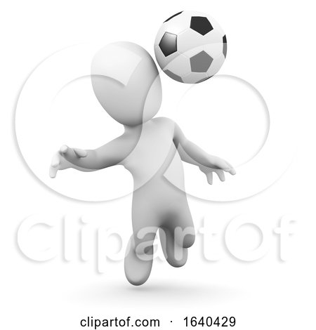 3d Little Man Plays Football by Steve Young
