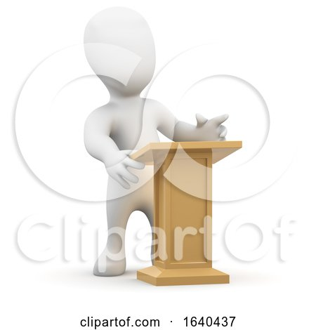 3d Little Person at the Lectern by Steve Young
