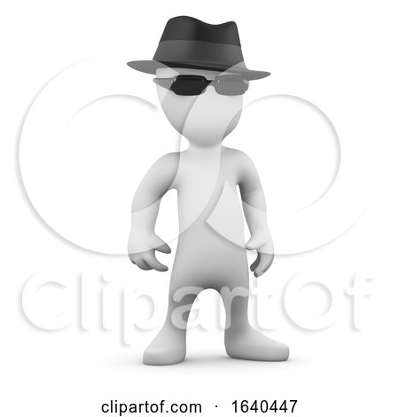 3d Little Person Looks Mysterious by Steve Young