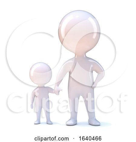 3d Parent and Child Hold Hands by Steve Young