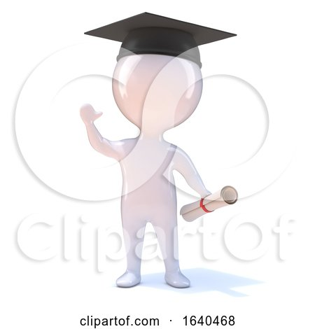 3d Little Man Graduates by Steve Young