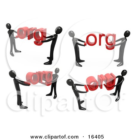 Black People Carrying Dot Org's Clipart Illustration Graphic by 3poD