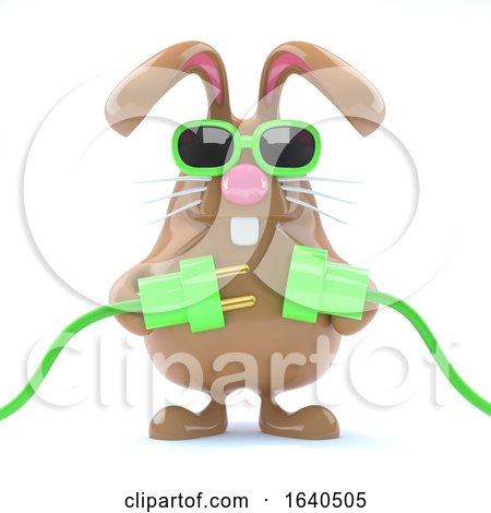 3d Easter Bunny Goes Green by Steve Young