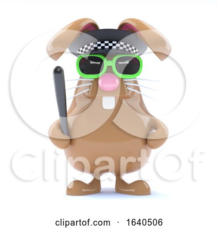 3d Officer Bunny by Steve Young