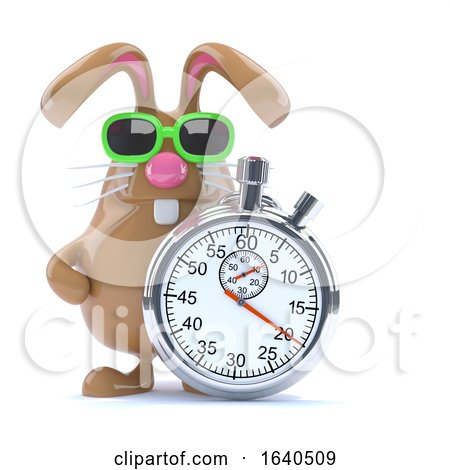3d Stopwatch Bunny by Steve Young