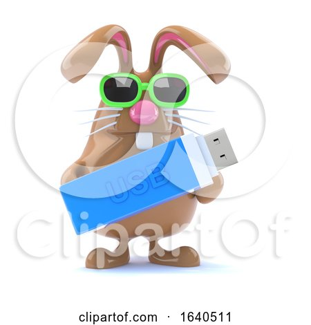3d USB Bunny by Steve Young