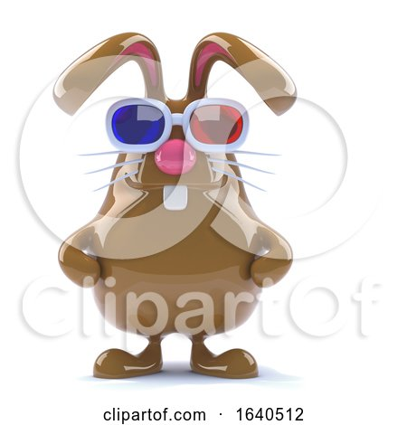3d Chocolate Bunny Watches a 3d Movie by Steve Young
