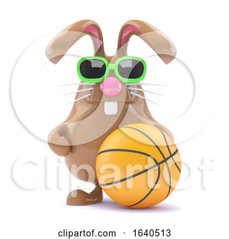 3d Basketball Bunny by Steve Young