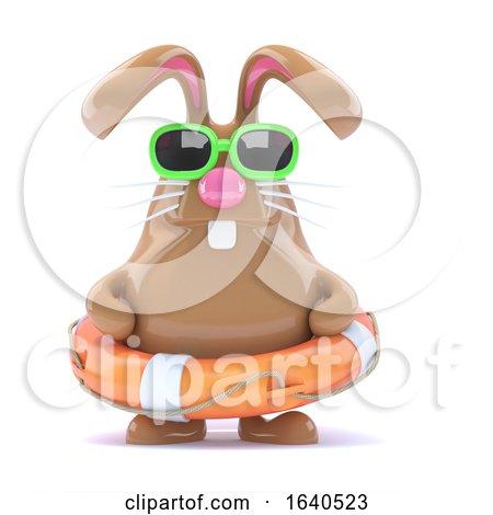 3d Easter Bunny Lifesaver Posters, Art Prints
